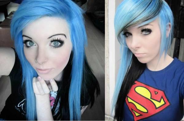 Welche Farben Eignen Sich Für Blauäugige Blondine Blaue Haare